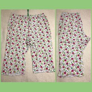 Cacique Intimates Cotton Drawstring PJ Capri 26/28